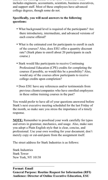 Solved: Write An Email Like The Rubric In Picture Instruct