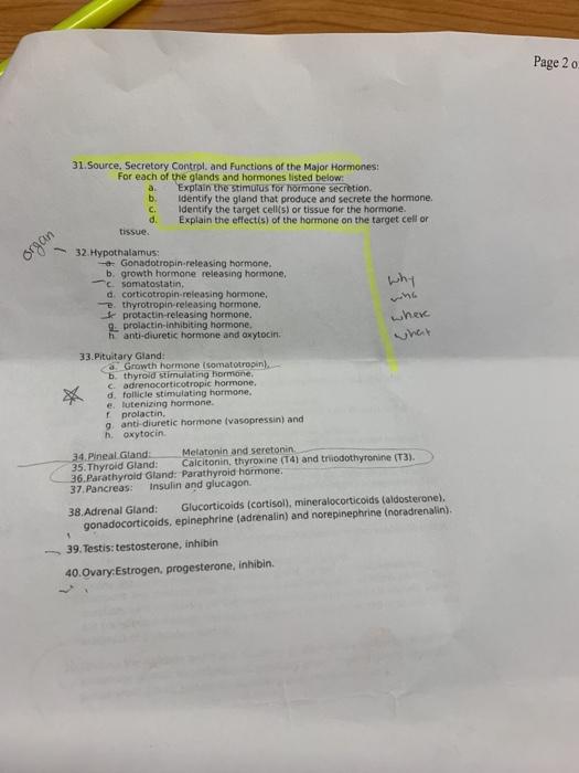 Solved Page 2 O 31 Source Secretory Contrpl And Functi Chegg Com
