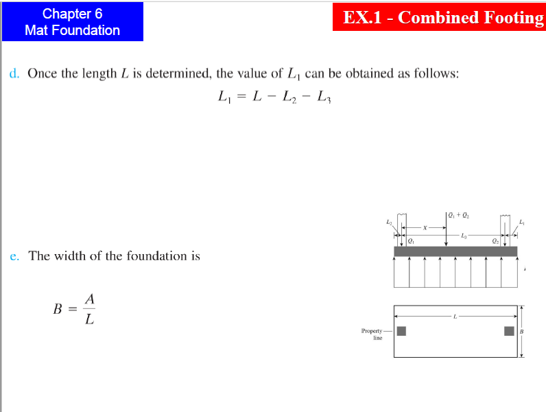 Solved: Chapter 6 EX 1 - Combined Footing Mat Foundation E