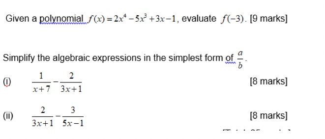 simplest form 3/9  Solved: Given A Polynoa 166-166x +166x-16, Evaluate F(-166). [16 Mar ...