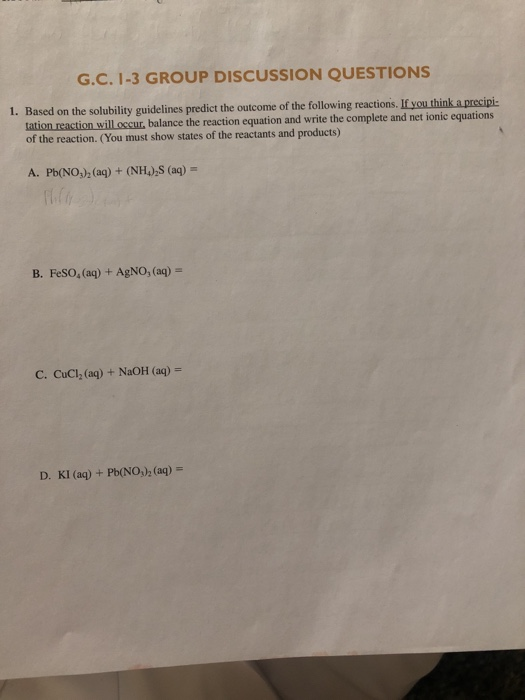 Solved: G C  1-3 GROUP DISCUSSION QUESTIONS 1  Based On Th