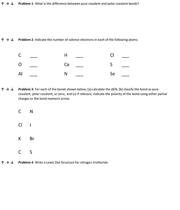 Solved What Is The Difference Between Pure Covalent And P