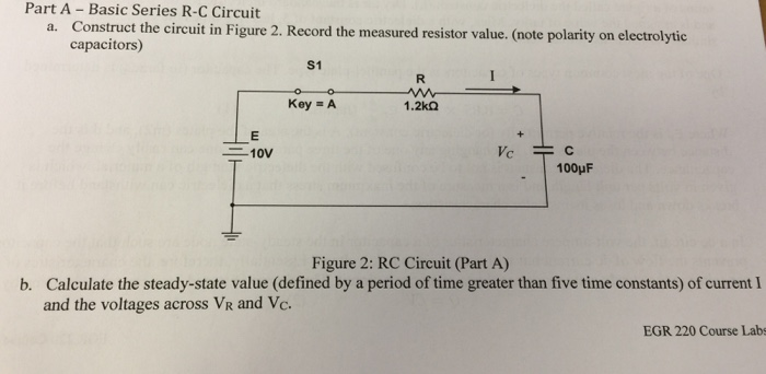 Solved: Part A - Basic Series R-C Circuit He Circuit In Fi ...