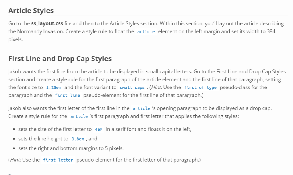Article Styles Go To The Ss Layout css File And Th