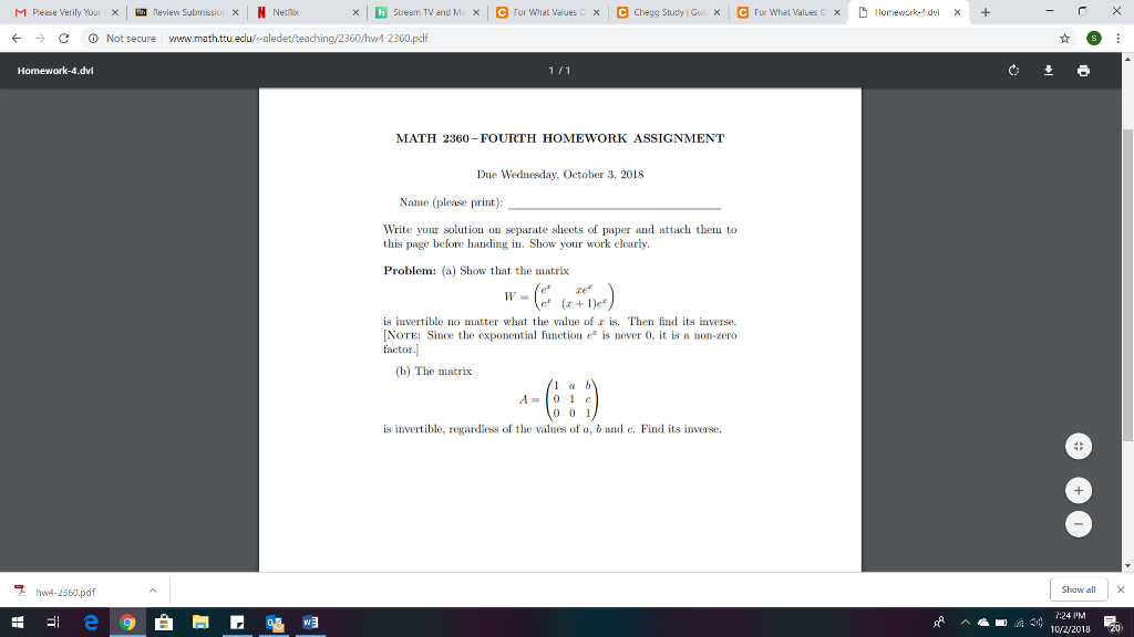 Solved: N Please Verify Your X Review Submissiu: Χ N Nerli
