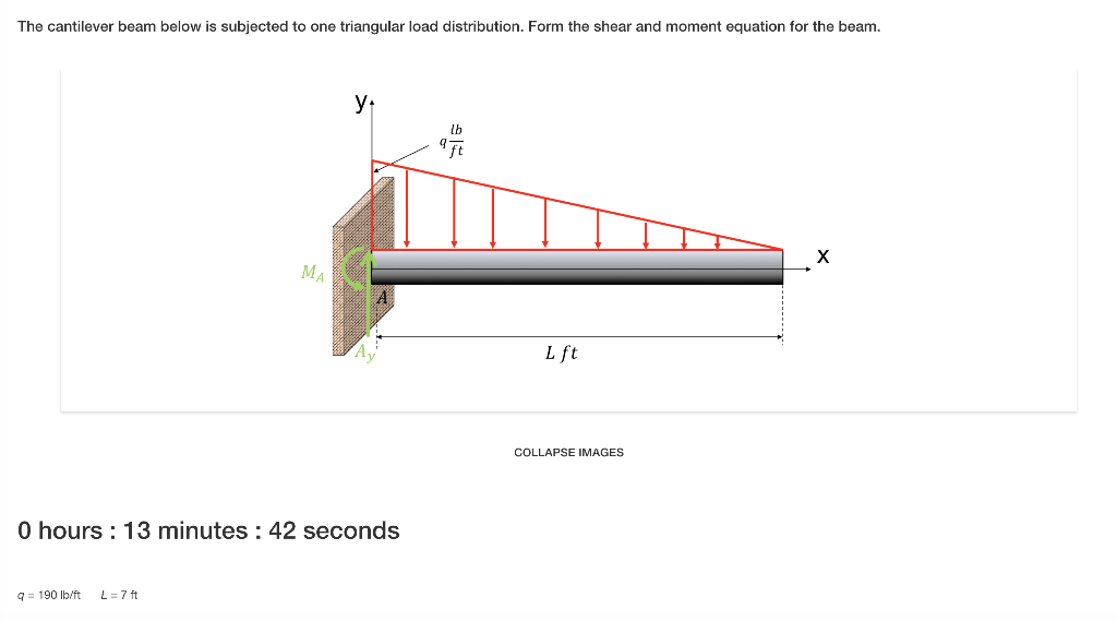 triangular load on beam