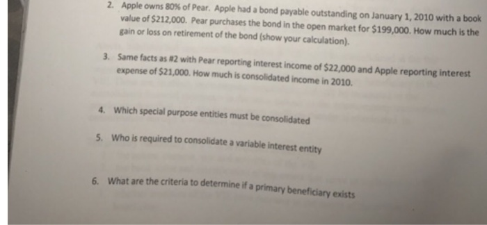 Accounting archive march 27 2018 chegg apple owns 80 of pear apple had a bond payable outstanding on january 1 fandeluxe Images