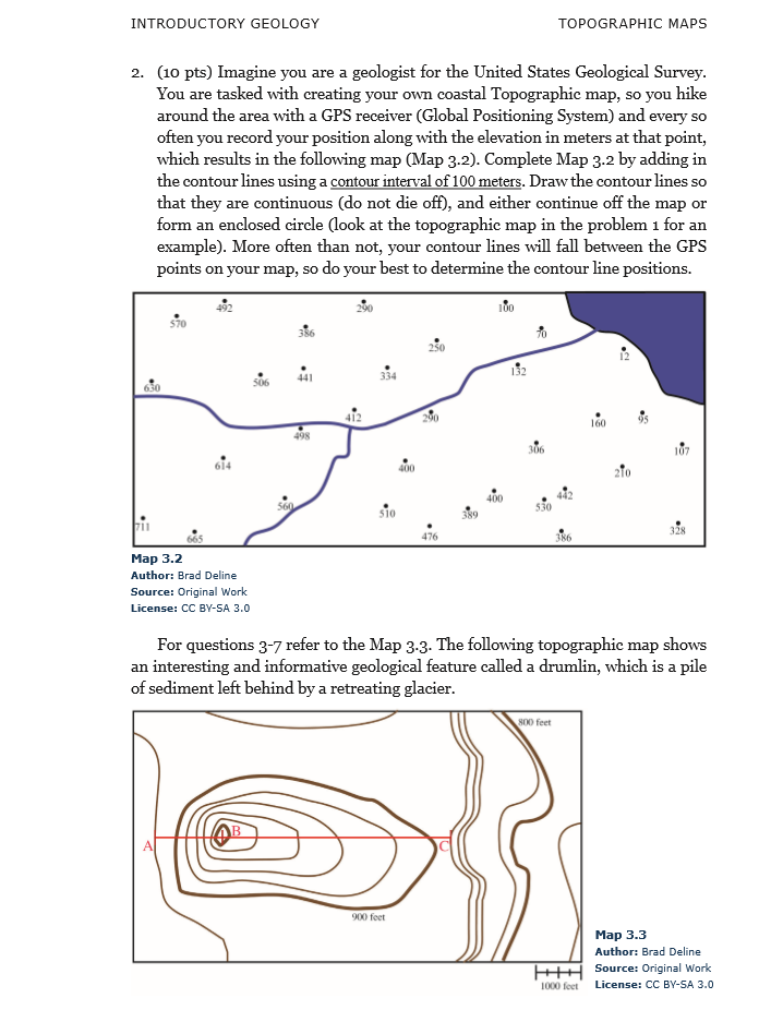 topographic map lab earth science Solved Nafre 3 8 Topographic Maps Lab Assignment Note Th