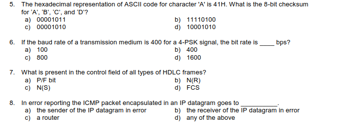 Solved: 5  The Hexadecimal Representation Of ASCIl Code Fo