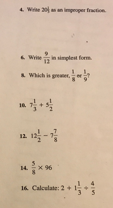 simplest form 9/12  Solved: Write 8 8/8 As An Improper Fraction. Write 8/82 I ...