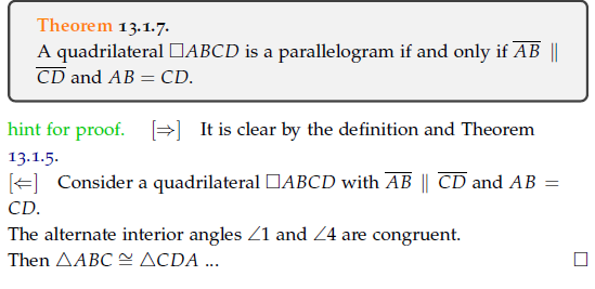 Solved: Theorem 13 1 7 A Quadrilateral □ABCD Is A Parallel