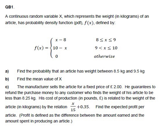 random variable and highest expected profit Has a 10% chance of returning $5,000,000 profit  the highest expected ch 5 discrete random variable continuous random variable ch 6.