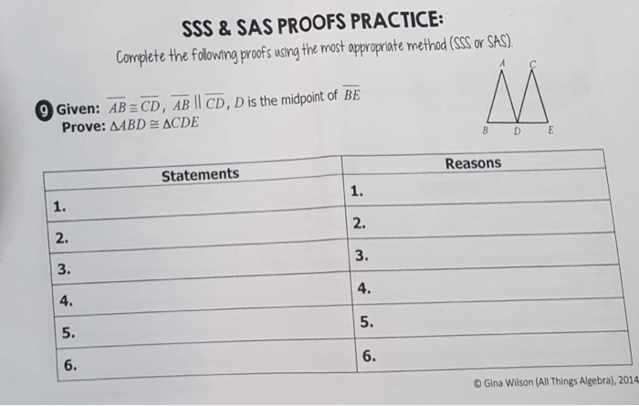 Solved: SSS&SAS PROOFS PRACTICE: Complete The Folowting Pr ...