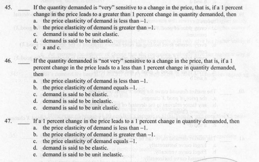 Solved Please Explain Using The Price Elasticity Of Deman