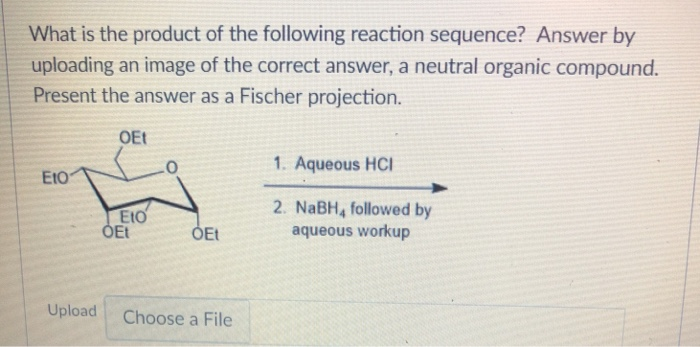 Solved: What Is The Product Of The Following Reaction Sequ