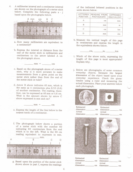 A Millimeter Interval And A Centimeter Interval Are Shown On The P Ograph Of A Meter Stick