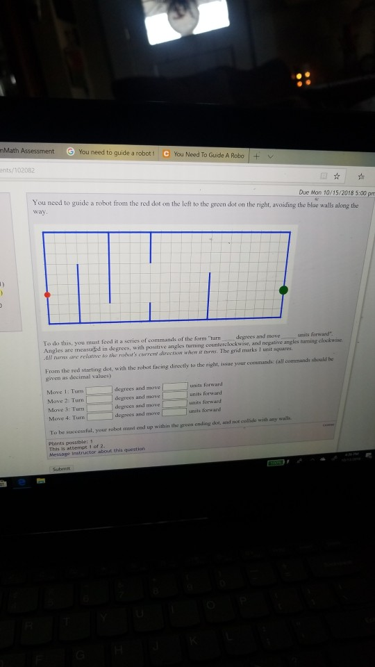 Solved: NMath A You Need To Guide A Robot C You Need To Gu
