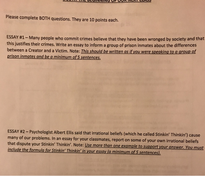 Solved Please Complete Both Questions They Are  Points  Please Complete Both Questions They Are  Points Each Essay Many