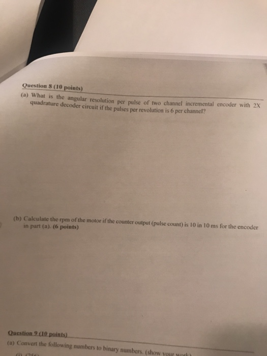 Solved: Question 8 (10 Points) (a) What Is The Angular Res