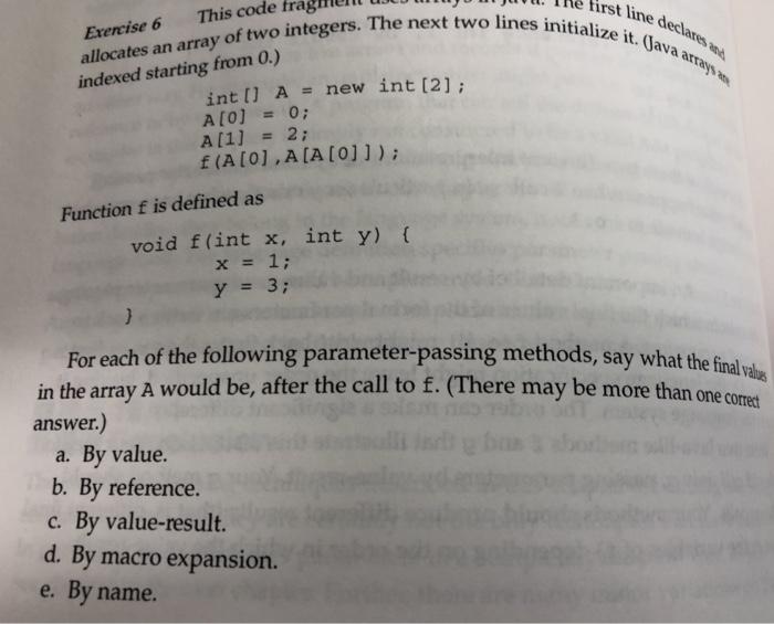 Solved: Le Hrst The Fi Line Declares Line D Code Fragmern