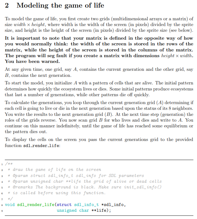 Can Someone Help Me Write Conway's Game Of Life In