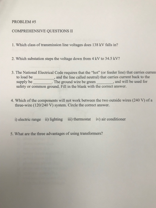 Solved: PROBLEM #5 COMPREHENSIVE QUESTIONS Ⅱ 1. Which Clas ...