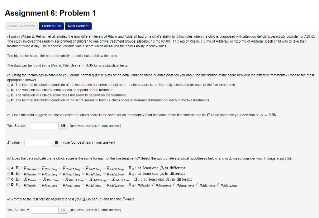 Solved: Assignment 6: Problem 1 Previous Problem Problem L
