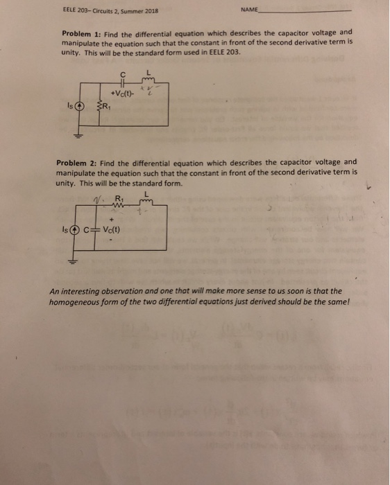 Solved: EELE 203-Circuits 2, Summer 2018 NAME Problem 1: F