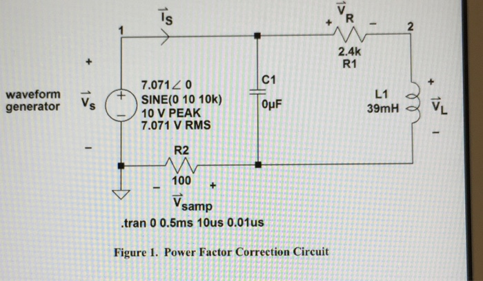 Solved 1 Provide A Phasor Diagram For The Capacitor Ind