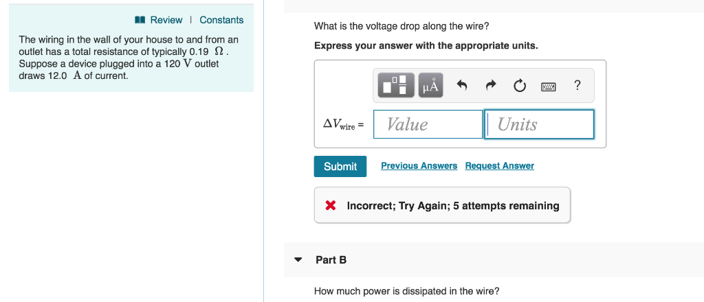 Phenomenal Solved Part A What Is The Voltage Drop Along The Wire P Wiring Digital Resources Funapmognl