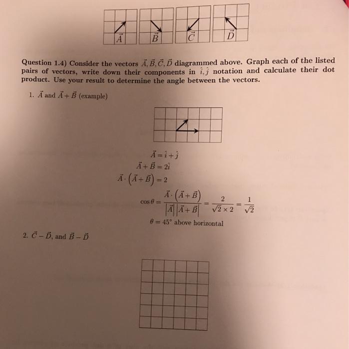 1 Dot Product Basics 11 Definition And Calculatio Chegg
