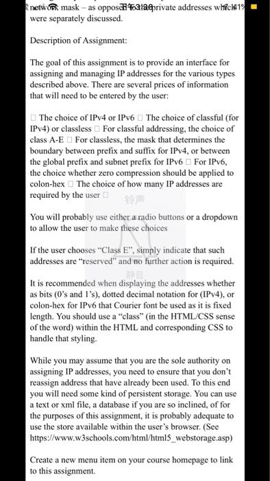 plz Provide A Complete Code Concepts: IP Addressi    | Chegg com