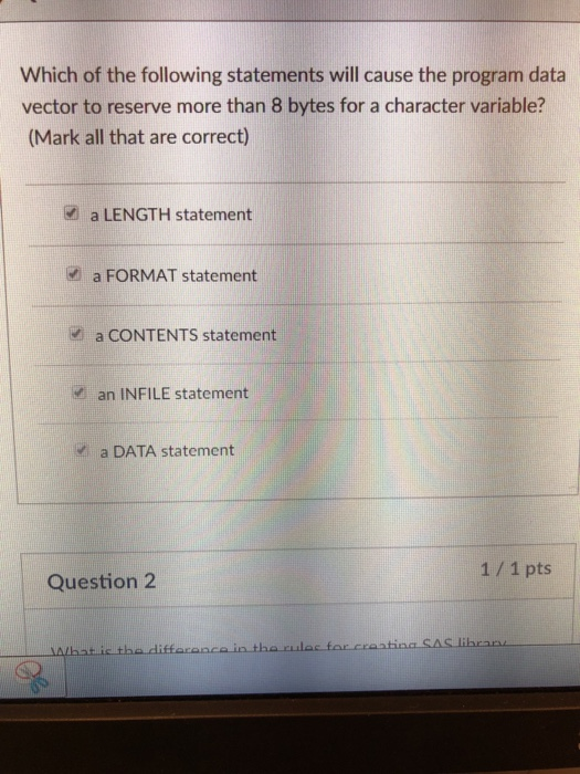 Solved: Which Of The Following Statements Will Cause The P