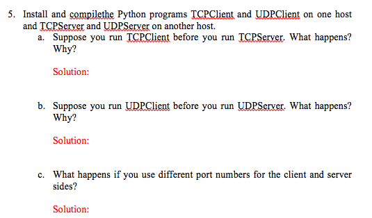 Solved: 5  Install And Compilethe Python Programs TCPClien