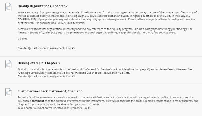 quality organizations ch apter2 write a summary f chegg com