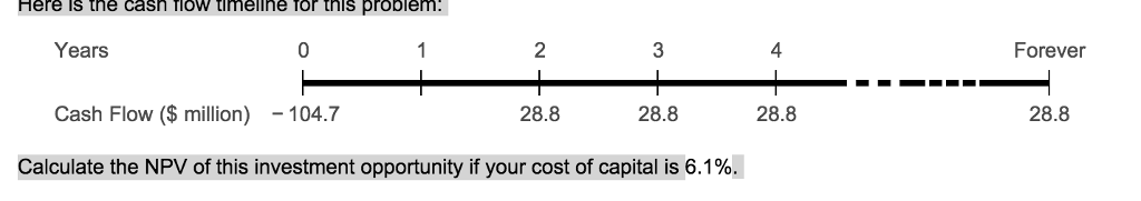 solved here is the cash flow timeline for this problem