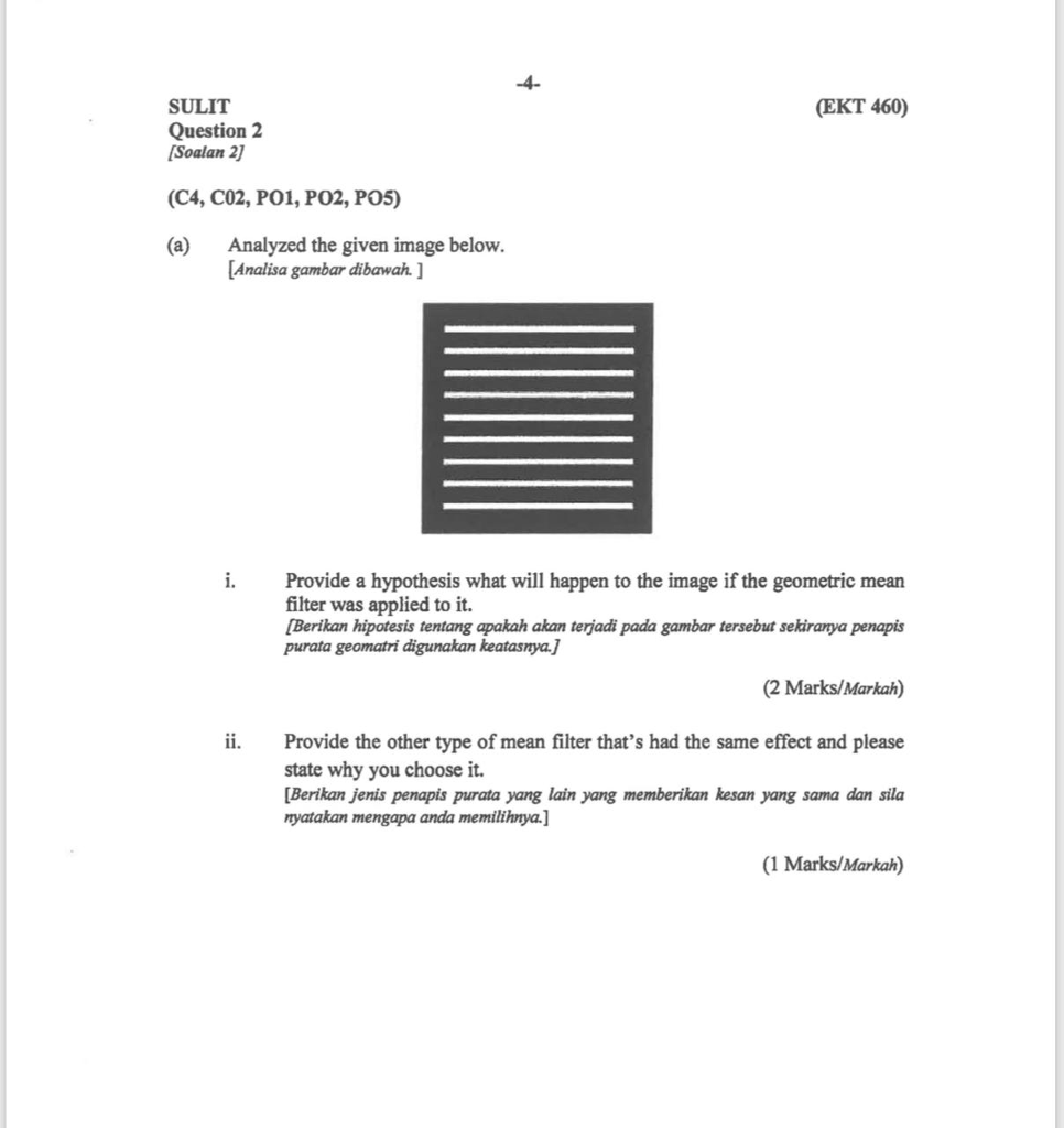 SULIT Question 2 Soalan EKT 460 C4 C02 PO1