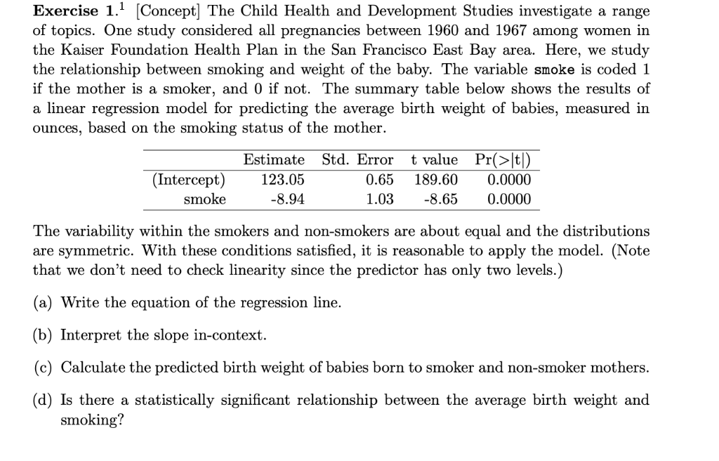Solved: Exercise 1.1 Concept The Child Health And Develo ...