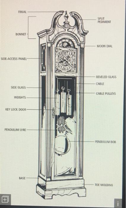 draw a freebody diagram of grandfather clock with chegg com rh chegg com grandfather clock diagram of parts grandfather clock mechanism diagram