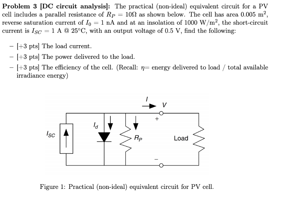 Solved: Problem 3 [DC Circuit Analysis: The Practical (non