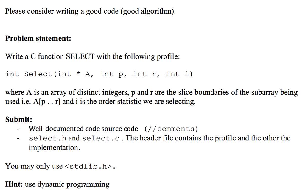 Please Consider Writing A Good Code (good Algorith