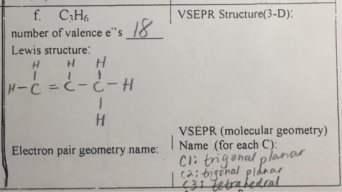 Solved: What Is The VSEPR Structure And Electron Pair Geom ...