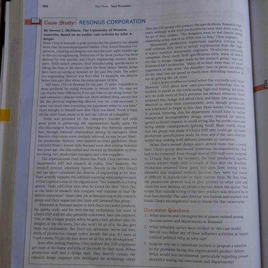 resonus corporation case study answers