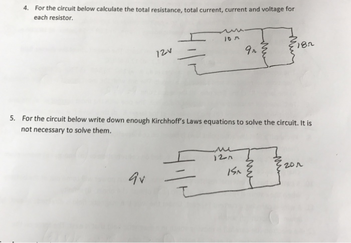 Solved: Need Help With Two Physics Circuit Problems. 4) Fo ...