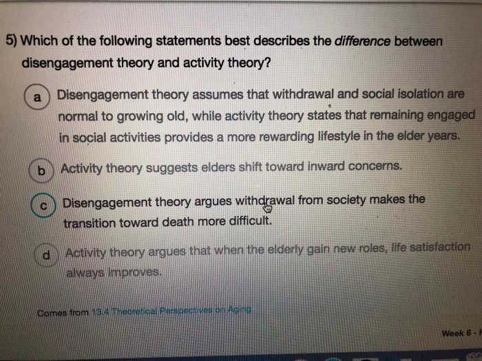 disengagement theory of aging examples