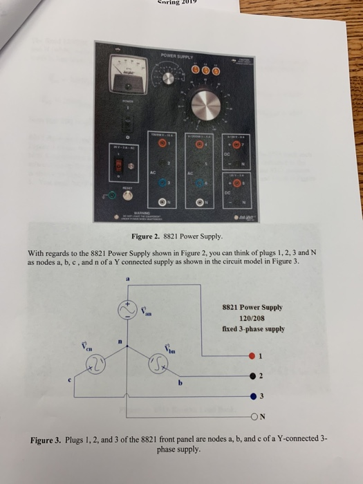 Solved The Fixed 120 208 Three Phase Supply At Plugs 1 R Chegg Com