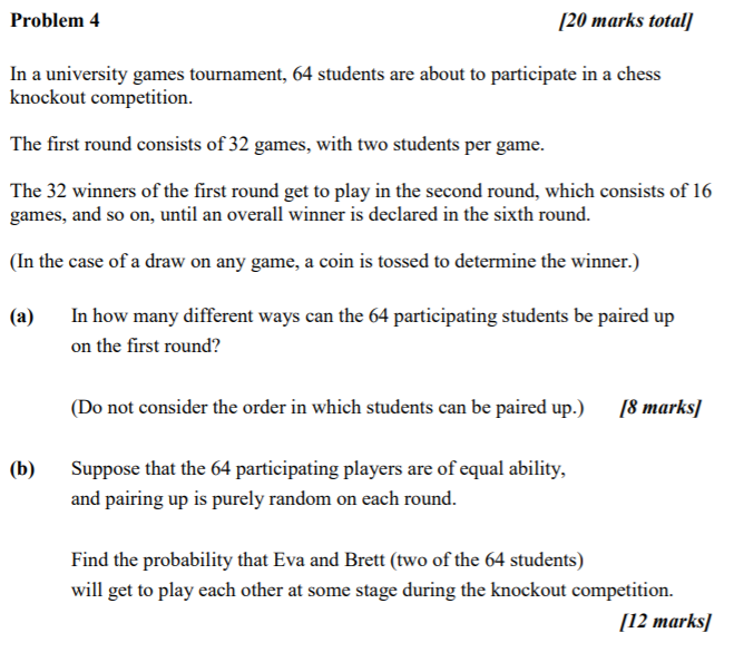 Solved: Problem4 20 Marks Total In A University Games Tour