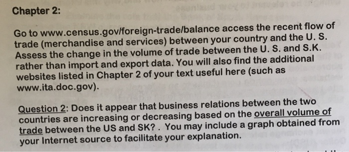 Solved: Chapter 2: Go To Www census gov/foreign-trade/bala