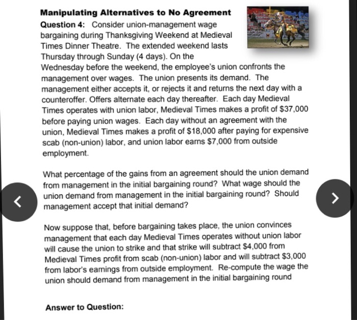 Solved Manipulating Alternatives To No Agreement Question