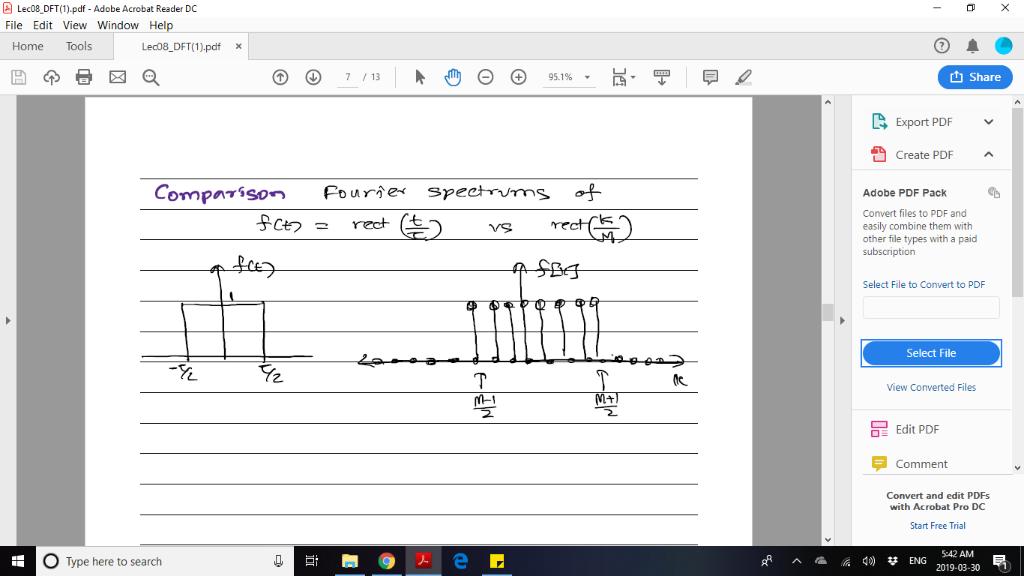 Solved: Lec08 DFT(1) pdf - Adobe Acrobat Reader DC File Ed